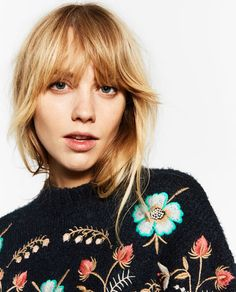 Image 6 of FLORAL EMBROIDERED SWEATER from Zara