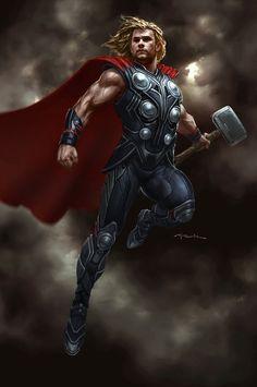 Amazing art!! Thor, god of thunder