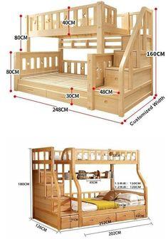 Handmade Bed Detail To see More Visit 👇 Small Room Design Bedroom, Kids Bedroom Designs, Home Room Design, Bunk Bed Rooms, Bunk Beds Built In, Kids Bed Design, Design Design, Loft Bed Plans, Bed For Girls Room