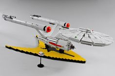Amazing #LEGO USS Enterprise NCC-1701 by icgetaway Love this , Best of both worlds: Lego AND Star Trek