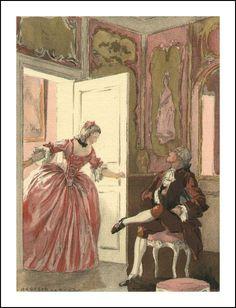 Auguste Leroux illustrations for Casanova