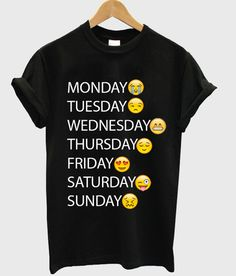 one week emoji T shirt #tshirt #shirt #graphicshirt #funnyshirt