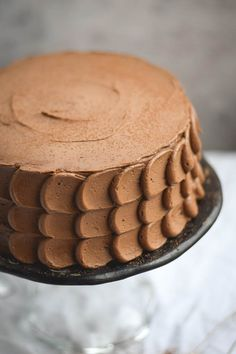 Golden Vanilla Butter Cake with Chocolate Buttercream Frosting