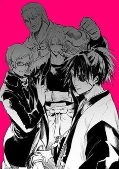 Tags: Anime, Pixiv Id 1564242, Gin Tama, Kagura (Gin Tama), Tsukuyo, Yagyuu Kyuubei, Sarutobi Ayame