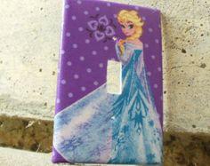 Frozen Elsa Light Switch Plate Cover Kids Room FE 102