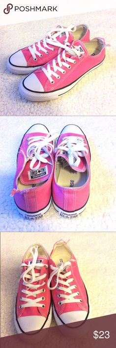 🌺 Converse All-Star Sneakers 🌺 Cute pink Converse sneakers. Two tears on left shoe. See pic. Other then that, they are in great condition. Price is firm. Converse Shoes Sneakers