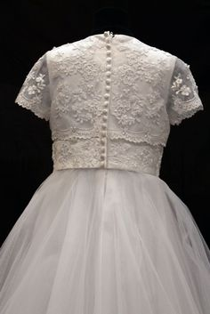 83g03324 | Beautiful Communion Dress -Satin Lace and Tulle Skirt - Maude ...