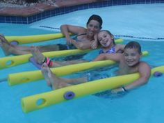 X-4 FLOATEEZ water float creation.  Family swimming is fun with FLOATEEZ!