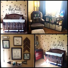 Baby boy nursery arrows Aztec woodland tribal triangles hobby lobby fox
