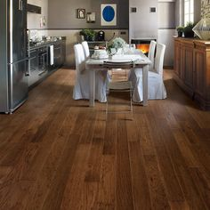 Shop Style Selections 5-in Prefinished Nutmeg Handscraped Hickory Hardwood Flooring (32.29-sq ft) at Lowes.com