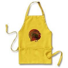 Jeweled Turkey Aprons #thanksgiving #apron #turkey