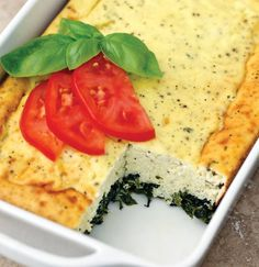 """CLICK PIC 2x for Recipe....  ...Spinach Ricotta Casserole... ...Recipe by George Stella... ...For tons more Low Carb recipes visit us at """"Low Carbing Among Friends"""" on Facebook"""