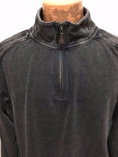 Age of Wisdom Charcoal Gray Mens 2XL 1/2 Zip Long-Sleeve Cotton Polo Shirt #AgeofWisdom #PoloRugby