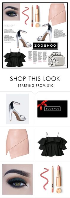 """""""Bez naslova #135"""" by lili-876 ❤ liked on Polyvore featuring Michelle Mason, MSGM, Too Faced Cosmetics and Jimmy Choo"""