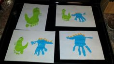 Dinosaurs from hand and foot prints