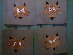 Varg gjord av löv
