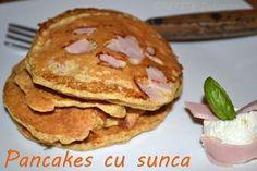 PANCAKES CU SUNCA-JUMATATE CANTITATE IEALA PENTRU UN MIC DEJUN.AM PUS SI CACAVAL FELIE SI SUNCS DE PUI ATUNCI CIND AM INTORS CLATITA DE PE O PARTE PE ALTA!CRED CA E UNA DINTRE CELE MAI BUNE VARIANTE DE MIC DEJUN!!!!!! Dukan Diet, Pancakes, Breakfast, Food, Salads, Recipes, Morning Coffee, Eten, Meals