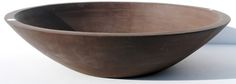 Low clay pottery bowl.