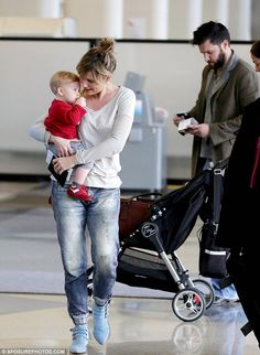 Jennifer Nettles and my babyboy Mags ;)