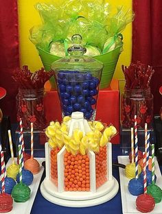 Fun Colors At A Paw Patrol Birthday Party See More Planning Ideas CatchMyParty
