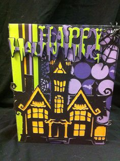 Another Kathy Orta inspired scrapbook for Halloween!!