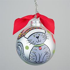 Glory Haus Cat Glass Ornament
