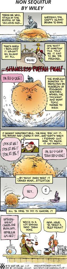 Sunday's Non Sequitur- Shameless Puffah Fish! - Democratic Underground