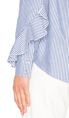 Gorgeous Ruffle Sleeve Button Down Shirt