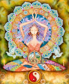 No Yoga, No Peace. Know Yoga, Know Peace. Yoga-Linda Yoga Mats, Towels, Accessories for every Yogi Chakras, Yoga Studio Design, Psy Art, Sacred Feminine, Divine Feminine, Goddess Art, Divine Goddess, Earth Goddess, Beautiful Goddess