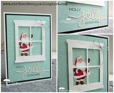 Sarah-Jane Rae cardsandacuppa: Stampin' Up! UK Order Online 24/7: 7 Days of All Day Christmas Class Cards. Day 6: Heart and Home Window with Home for Christmas DSP Santa