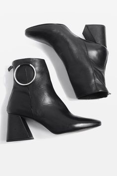MIA Leather Ring Boots
