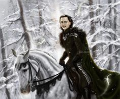 Loki fanart <3 - should lean a bit further back in the saddle. Sry, once a rider, always a rider - can't help noticing posture mistakes
