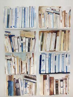 """Books"" - Watercolour/gouache by Britta Kjellgren Jager White And Warren, Lost Art, Inspirational Books, Art Journal Inspiration, Journal Ideas, Book Nerd, Art Music, Art Techniques, Designs To Draw"