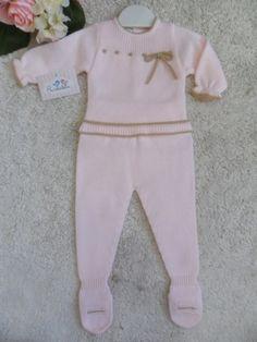CONJUNTO 2 PIEZAS ROSA CON LAZO MARRON | Pardalets - Ropa para tu bebe