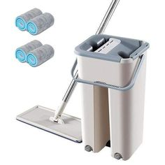 Floor Cleaning Mop, Cleaning Mops, Cleaning Hacks, Aluminium Kitchen, Kitchen Stickers, Mop Pads, Floor Care, Clean Microfiber, Hand Spinning