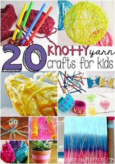 There are so many fun things that can be done with yarn- why not start with one of these 20 knotty yarn crafts for kids?