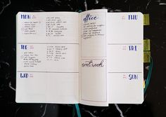 Bullet Journal Weekly Spread Setup - Customizing your Bullet Journal Spreads