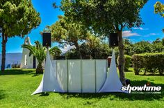 One of our favorites  A summer wedding  in Greece. Dj setup