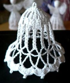 Crochet Bell Ornament can be also used for angel skirts