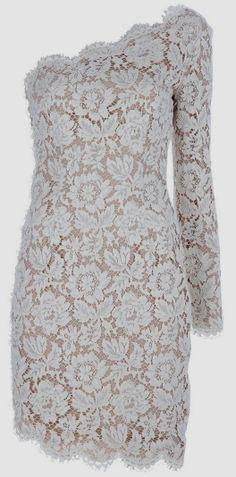 Elegant asymmetric lace dress fashion