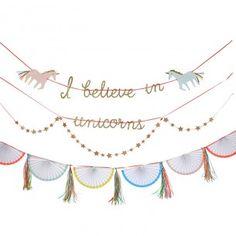 I Believe In Unicorns Garland