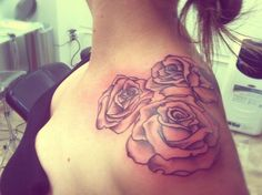 Rose Flowers Tattoo On Left Shoulder For Girls and information related to it.