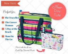 Reusable Eco Bags 169302: Thirty One New Day Tote In Preppy Pop - Nwot -> BUY IT NOW ONLY: $45 on eBay!