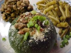 Our Recipes: Baked Stuffed Eight-ball Zucchini
