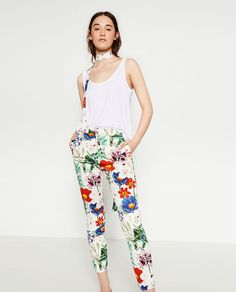 Image 1 of PRINTED TROUSERS from Zara