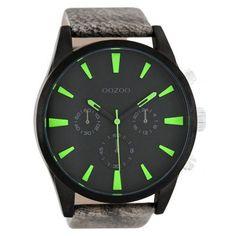 Modische Armbanduhr von Oozoo https://www.uhrcenter.de/uhren/oozoo/timepieces/oozoo-herrenuhr-schwarz-gruen-c8202-xxl/