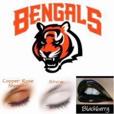 #Bengals #NFL #fans #teamspirit #football #SeneGence #LipSense #ShadowSense…