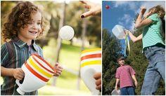 kindergeburtstag-spiele-draußen-basteln-kunststoff-waschmittelflasche-schneiden-ball