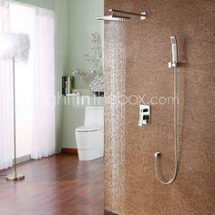 Grifo de ducha - Contemporáneo - Ducha lluvia / Alcachofa incluida - Latón (Cromo) - EUR €82.31