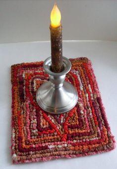 Primitive Folkart Gypsy Bohemian Heart Hooked Rug  Beaconhillcollect  We Ship Internationally on Etsy, $63.35 CAD
